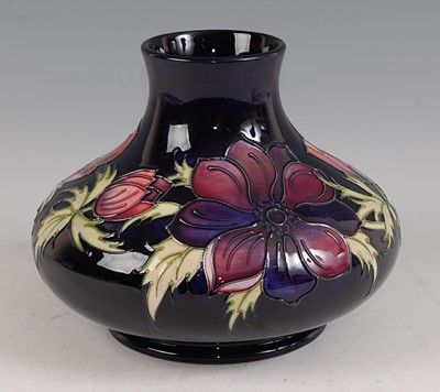 Lot 5-A large contemporary Moorcroft squat vase, in...