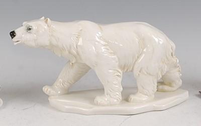 Lot 25-Karl Ens - a circa 1930s glazed porcelain...