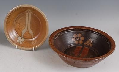 Lot 45-Jane Hamlyn (b.1940) - a studio pottery...