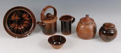 Lot 47-John Jeffs - a studio pottery salt-glazed jar...