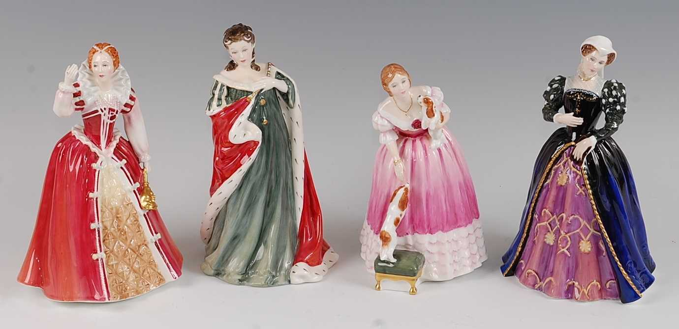 Lot 12-A set of four Royal Doulton Queens of the...