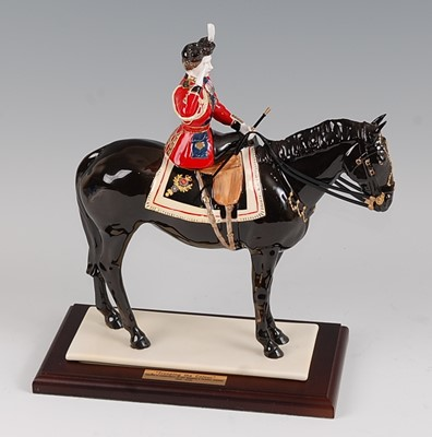 Lot 15-A Coalport limited edition figurine 'Trooping...