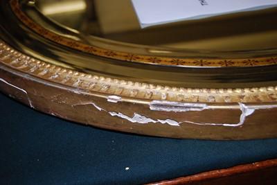 Lot 1562 - *A George III gilt gesso wall mirror, having a...