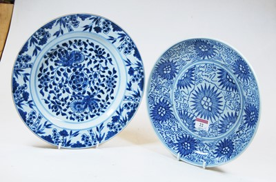 Lot 22-A 19th century Chinese blue and white export...