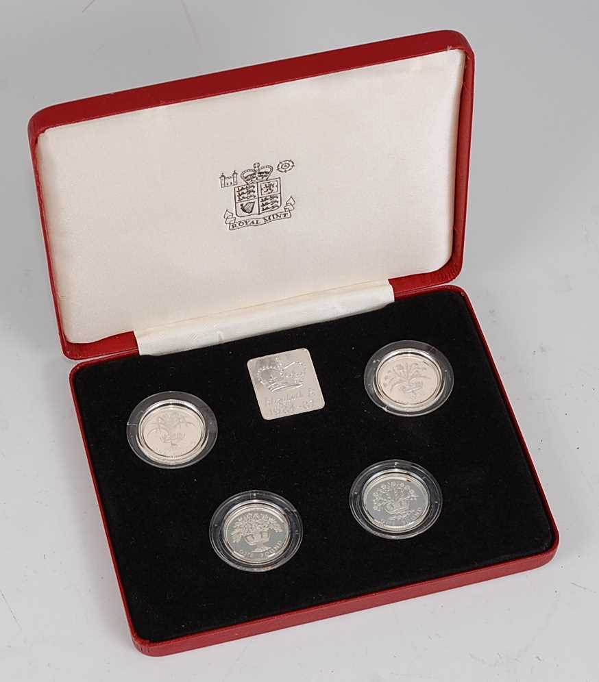 Lot 2012-Great Britain, a Royal Mint 1984-1987 UK £1...