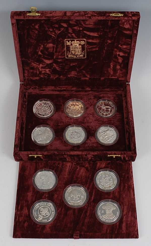 Lot 2013-The Royal Mint, 1982 Year of the Scout silver...
