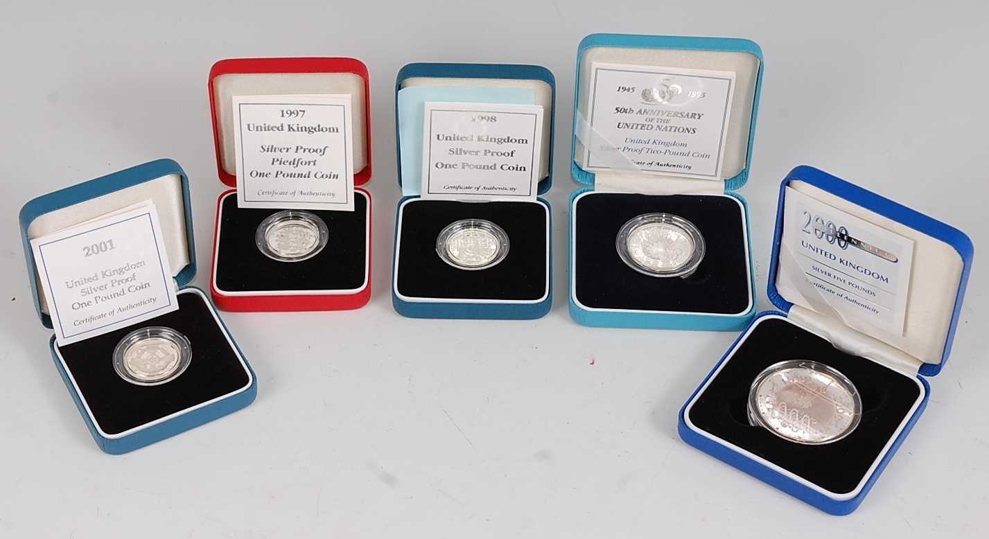Lot 2014-Great Britain, a collection of five Royal Mint...