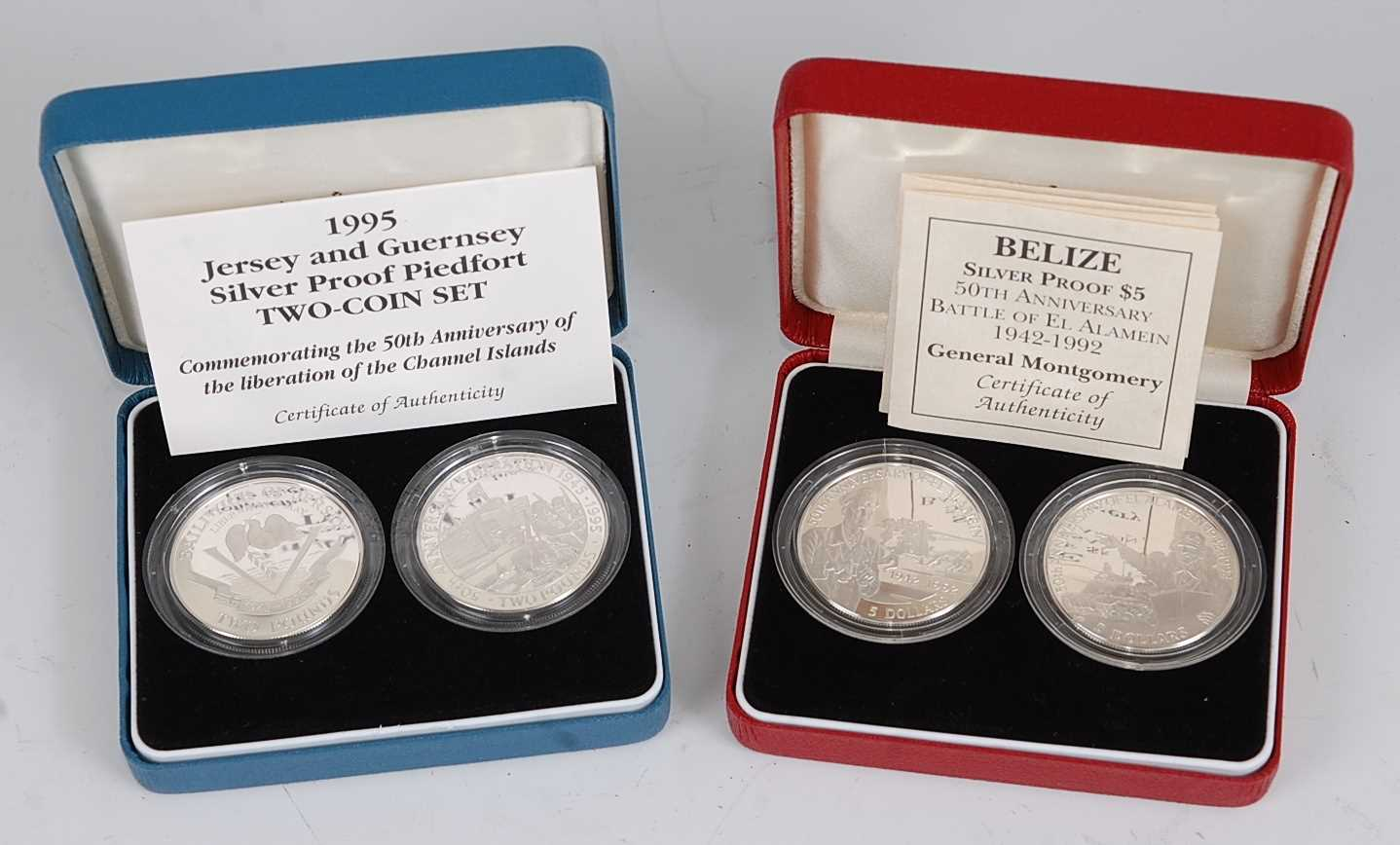 Lot 2015-The Royal Mint, 1995 Jersey and Guernsey 50th...