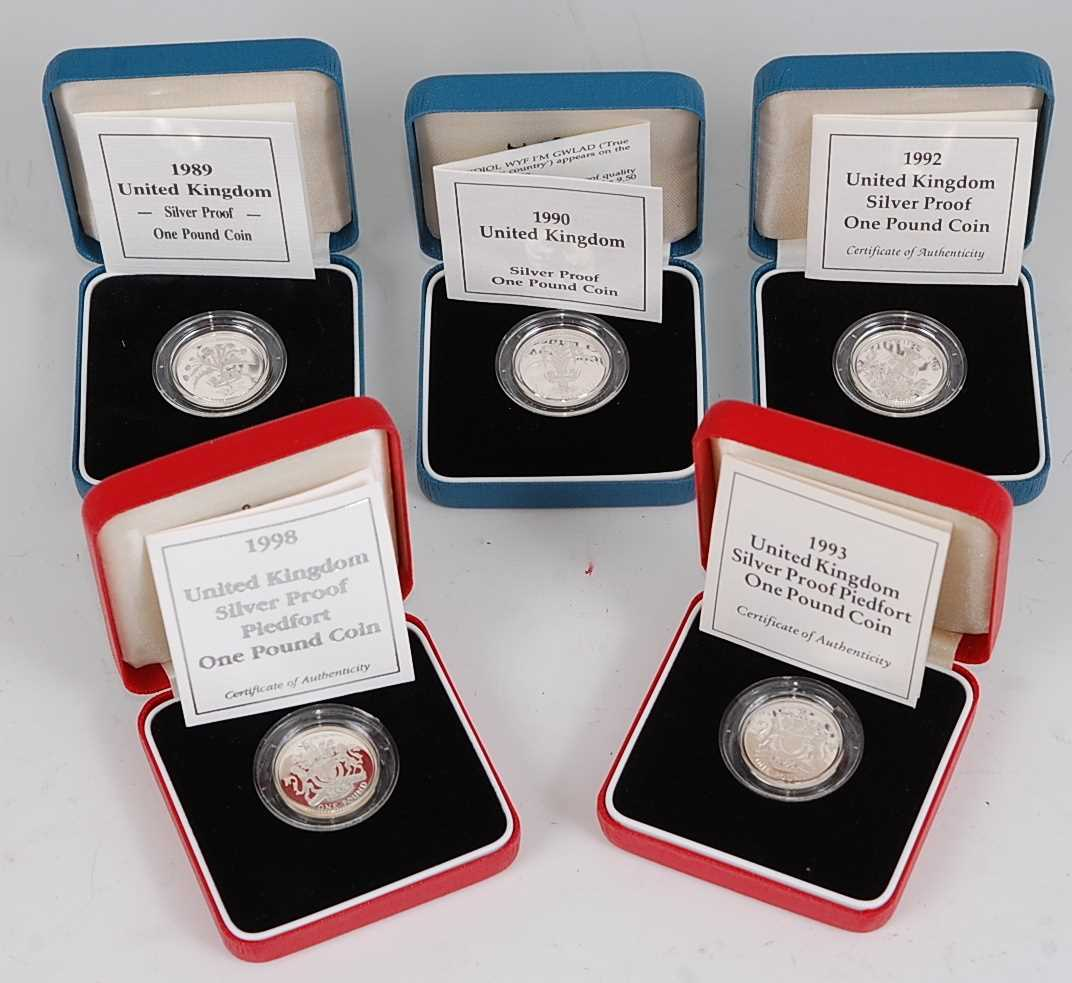 Lot 2017-Great Britain, a collection of five Royal Mint...