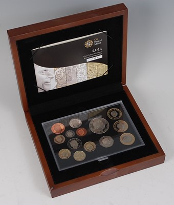Lot 2028-The Royal Mint, 2011 Executive proof set, 14...
