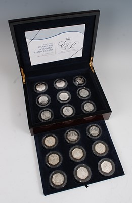 Lot 2032-The Royal Mint, 2007 Diamond Wedding...