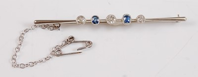 Lot 2507 - A white metal early 20th century sapphire and...
