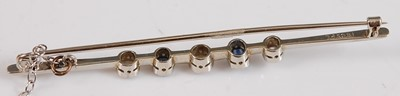 Lot 2507-A white metal early 20th century sapphire and...