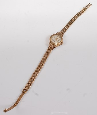 Lot 2510-A 9ct yellow gold lady's fifteen-jewel manual...