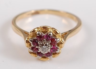 Lot 2512-A yellow and white metal, ruby and diamond...