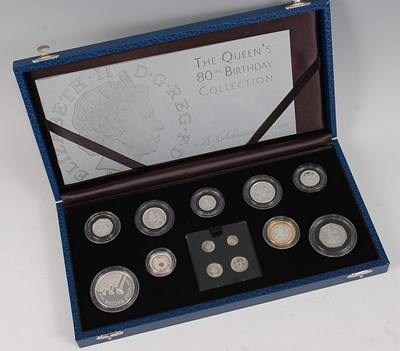 Lot 2041-The Royal Mint, The Queen's 80th Birthday...
