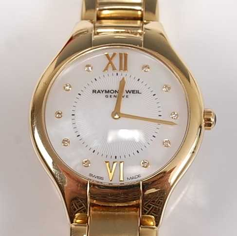 Lot 2516-A lady's stainless steel PVD Raymond Weil...