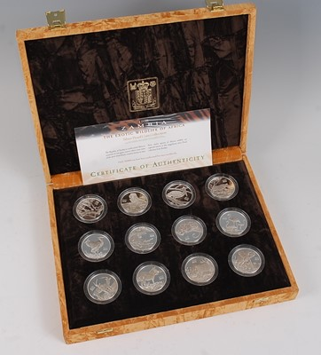 Lot 2045-The Royal Mint, 1998 Zambia The Exotic...