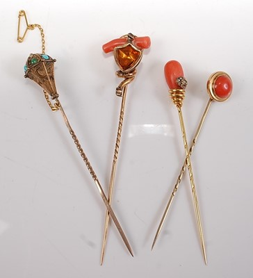 Lot 2522 - A collection of four late 19th century stick...