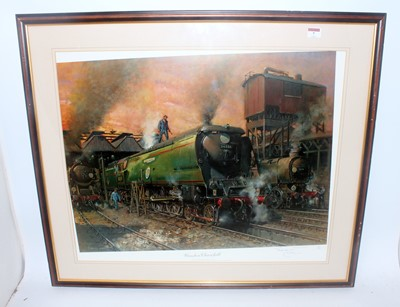 Lot 7-Cuneo print 'Winston Churchill' and other...