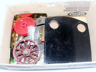 Lot 2-Small box containing a delve of various steam...