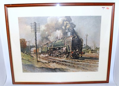 Lot 4-A framed and glazed Cuneo print 'Evening Star'...