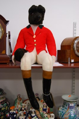 Lot 10-A 20th century stuffed fox huntsman, possibly...