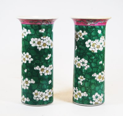 Lot 15-A pair of Chinese export stoneware vases of...