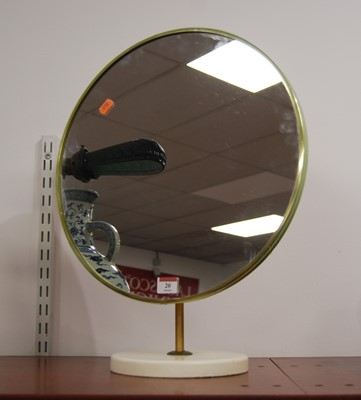 Lot 20-A 20th century circular dressing table mirror,...