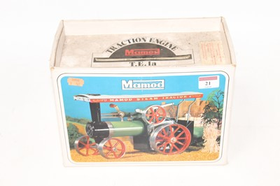 Lot 21-A Mamod TE1A traction engine of usual...