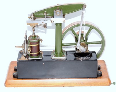 Lot 22-A Stuart Turner stationery beam engine...