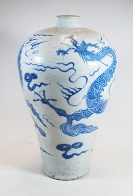 Lot 2-A Chinese blue & white glazed stoneware...