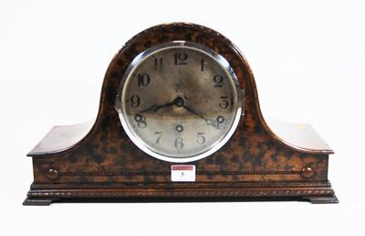 Lot 5-A 1930s walnut cased Nelsons hat mantel clock,...