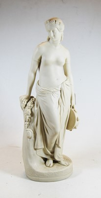 Lot 8-A mid 19th century Copeland Parian figure of...