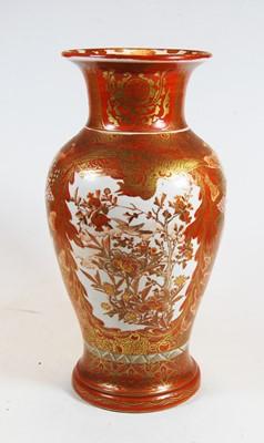 Lot 12-A Japanese Kutani vase, of baluster form,...