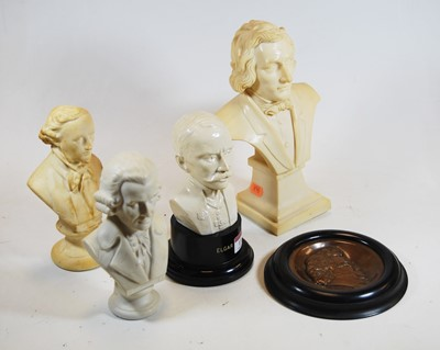 Lot 13-A Parian bust of Haydn, on a socle base,...