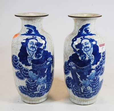 Lot 17-A pair of 20th century Chinese blue & white...