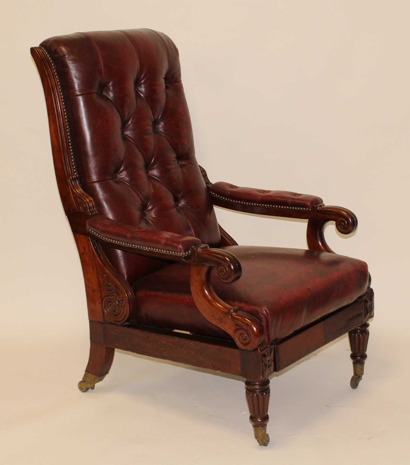 Lot 2523 - A French mahogany reclining armchair by...