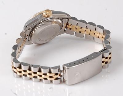 Lot 2307 - A lady's Rolex Oyster Perpetual bi-metal...
