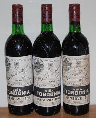Lot 1010-R. Lopez de Heredia vina Tondonia Reserva,...