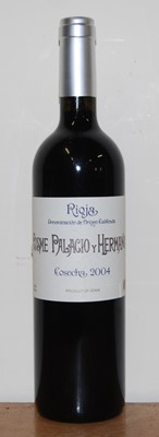 Lot 1021-Cosme Palacio y Hermanos, 2004, Rioja, six...