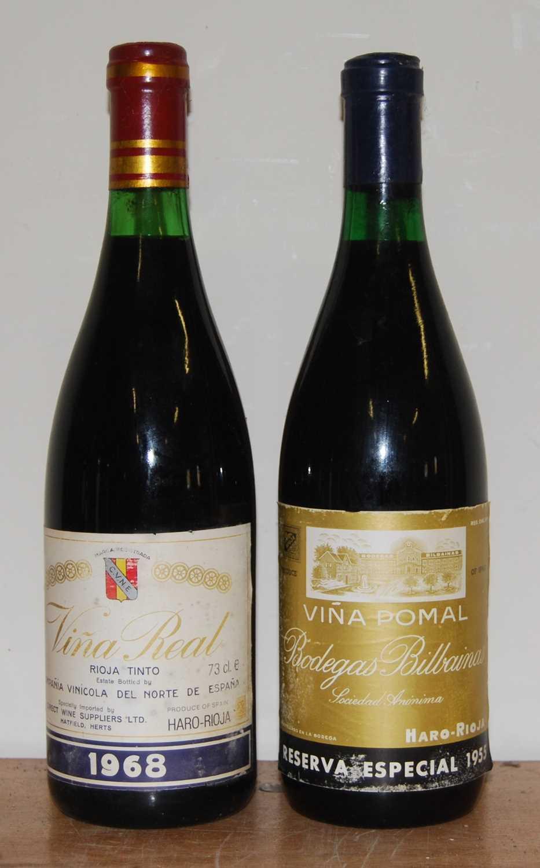Lot 1022-C.V.N.E. Vina Real, 1968, Rioja, three bottles;...