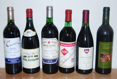 Lot 1026-Assorted Riojas, to include Vina Ardanza 1999...