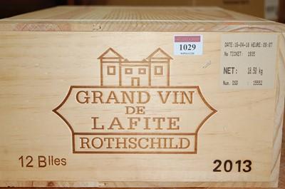 Lot 1029-Château Lafite Rothschild 2013, Pauillac,...