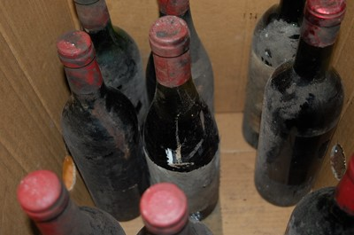 Lot 1030-Assorted circa 1960s/70s FrenchChâteau red...