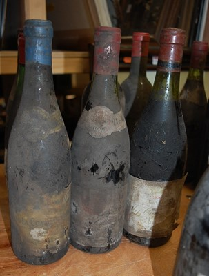 Lot 1031-Assorted circa 1960s/70s French Château red...