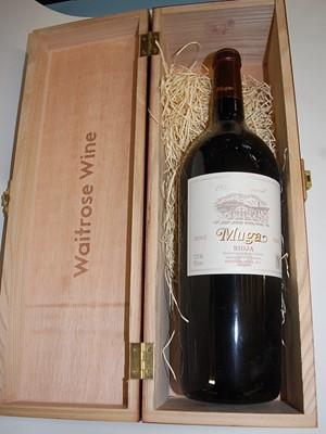 Lot 1033-Muga, 2003, Rioja, one magnum in wooden box...