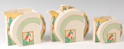 Lot 3 - A Clarice Cliff Stroud pattern pottery...