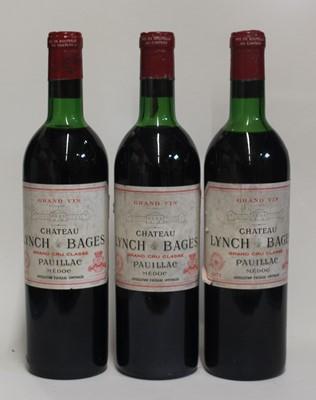 Lot 1035-Château Lynch-Bages, 1971, Pauillac, three...