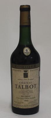 Lot 1039-Château Talbot, 1962, Saint Julien, five bottles